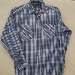 Men's casual button down BH Polo Club plaid shirt